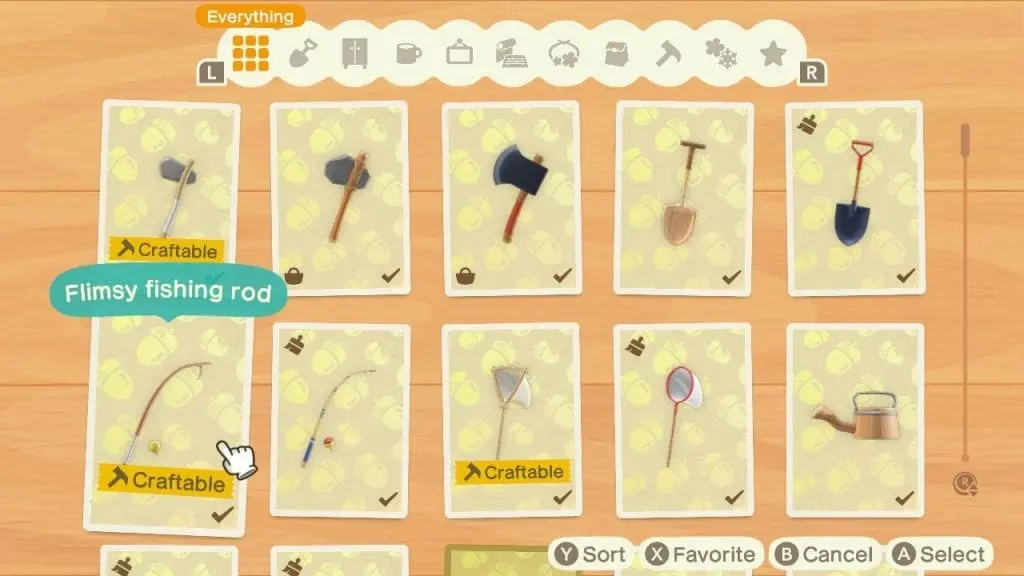 Recipes Animal Crossing: New Horizons