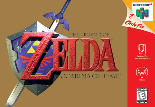 Legend of Zelda: Ocarina of TIme Cover Retro Review - The Game Crater