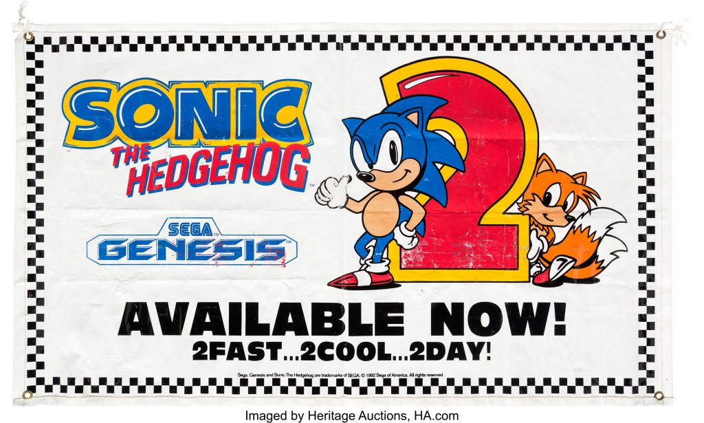 Sonic the Hedgehog 2 promotional banner