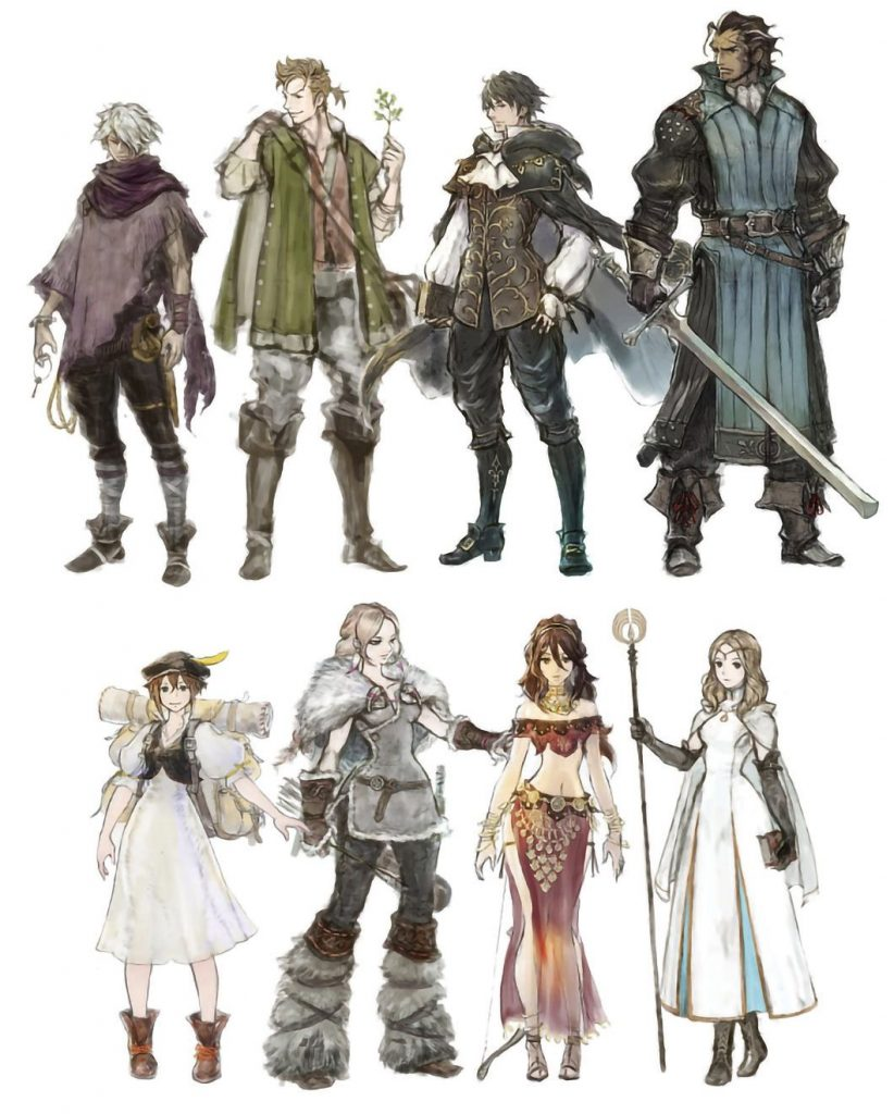 Octopath Traveler Characters