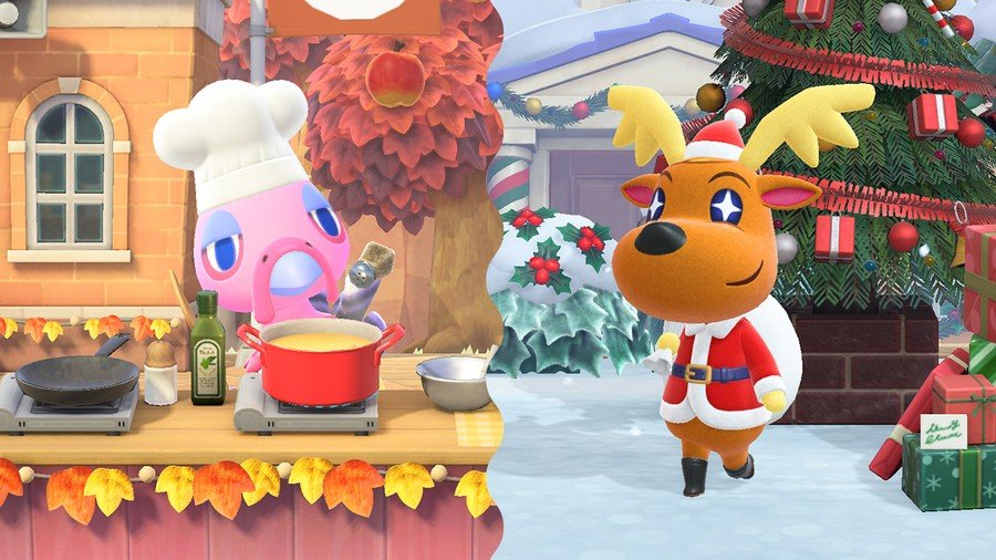 Winter update Animal Crossing
