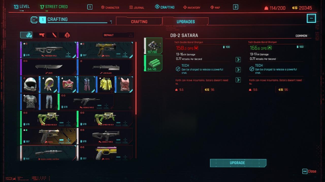 Cyberpunk 2077 Gear