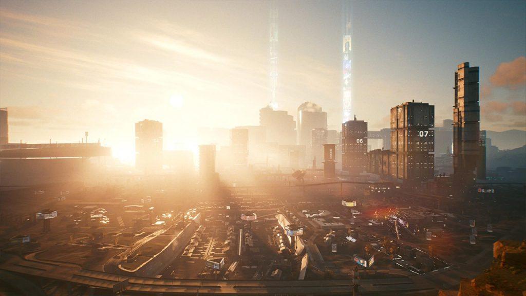Cyberpunk Night City in Day