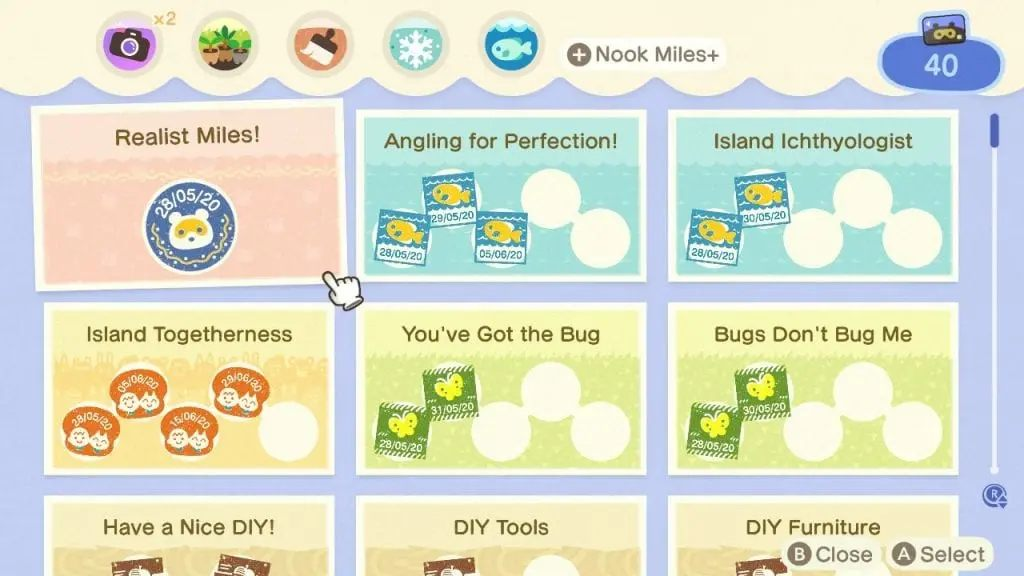 Animal Crossing: New Horizons Nook Miles