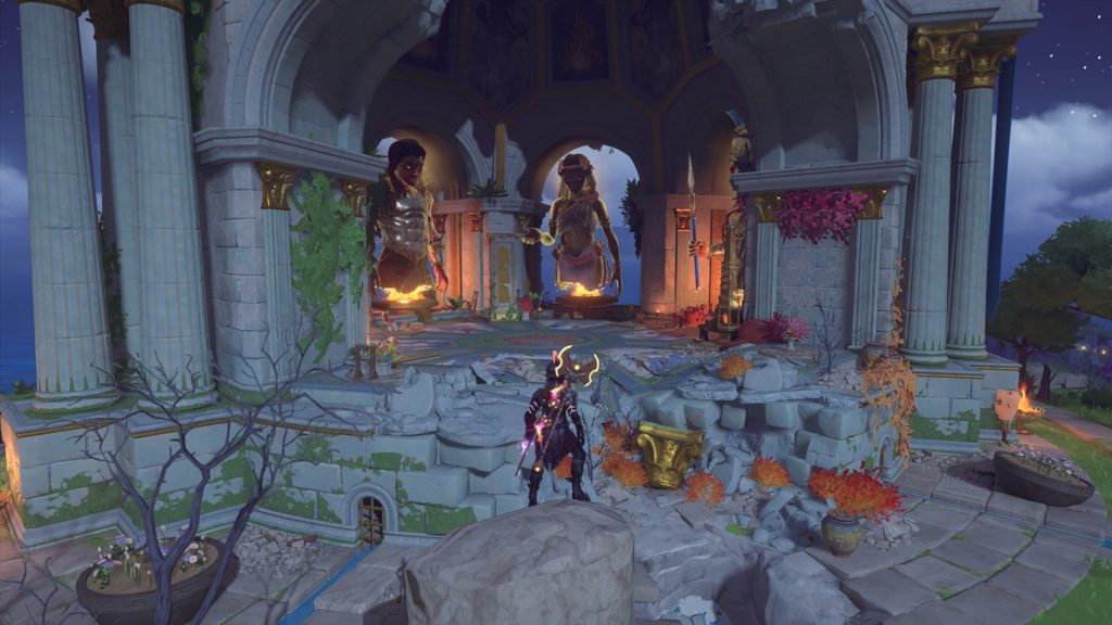 Immortals Fenyx rising main hub and gods