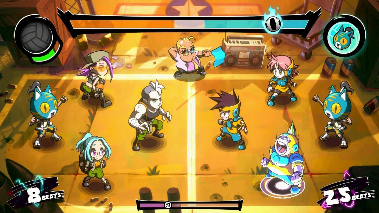 Super Dodgeball Beats - Gameplay