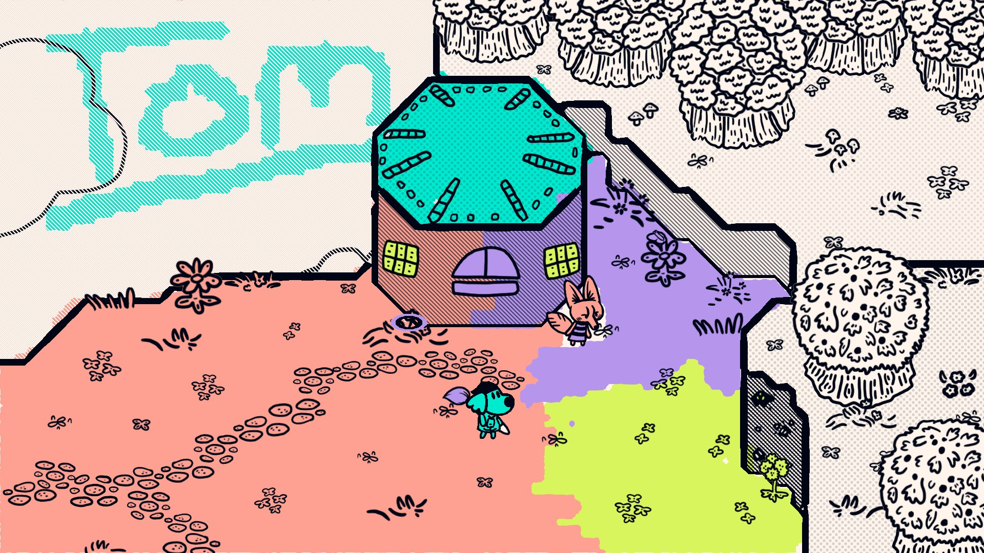 Steam Game Festival - Chicory: A Colourful Tale Painting