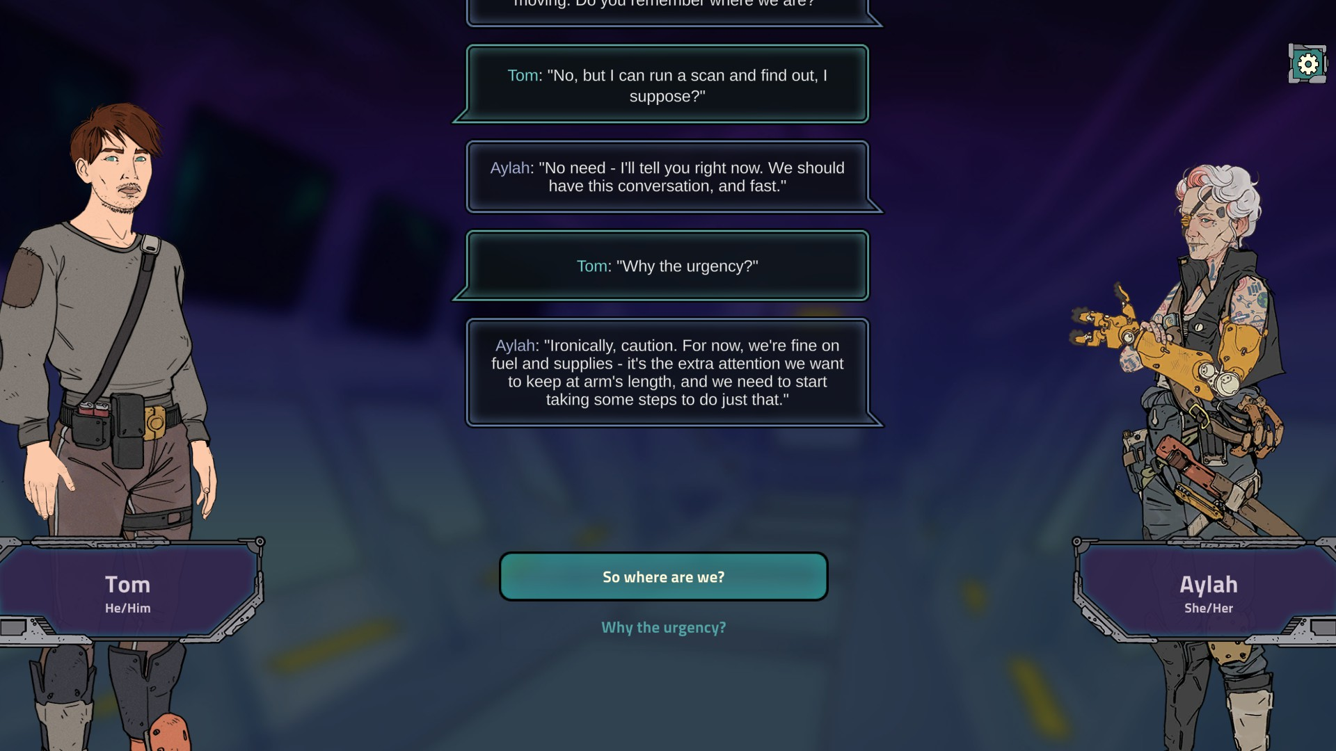 Steam Game Festival - A Long Journey To An Uncertain End Dialogue