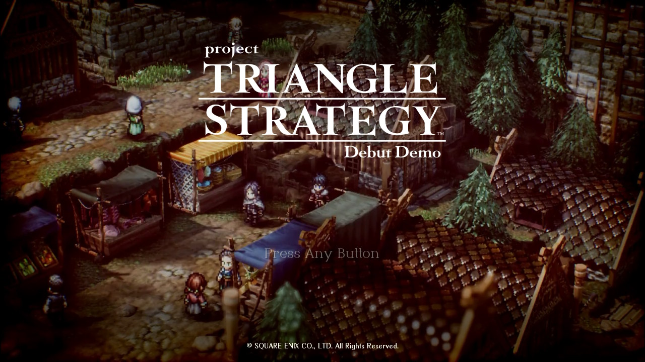 Project Triangle Strategy - Intro Screen
