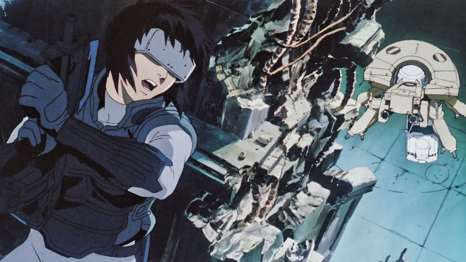 Ghost In The Shell - Spider Robot Fight