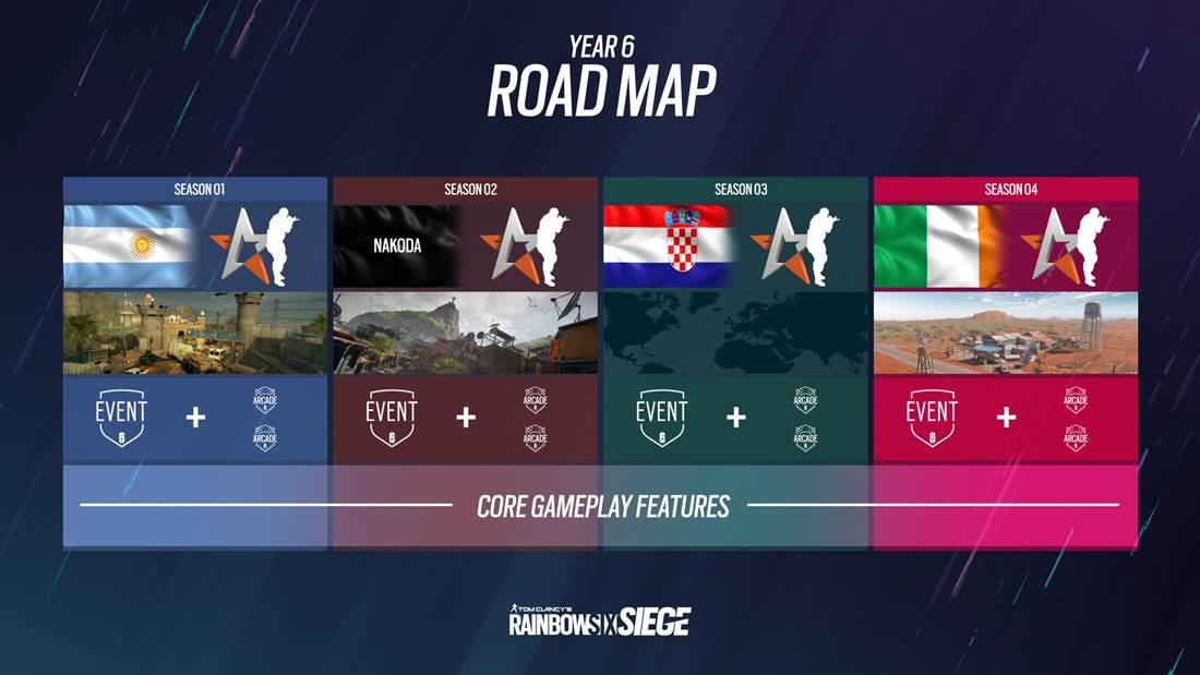 Rainbow Six Siege - Year 6 Roadmap