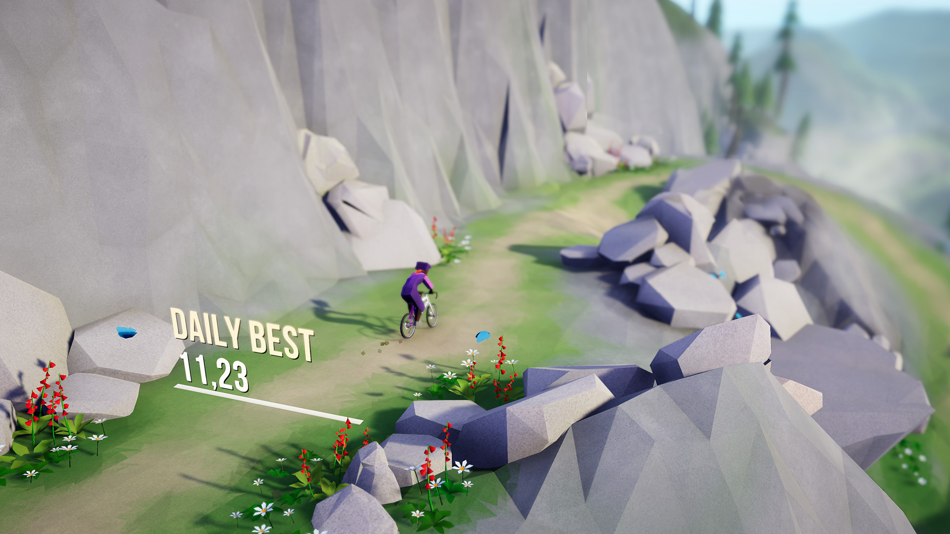 Lonely Mountains: Downhill - Gameplay