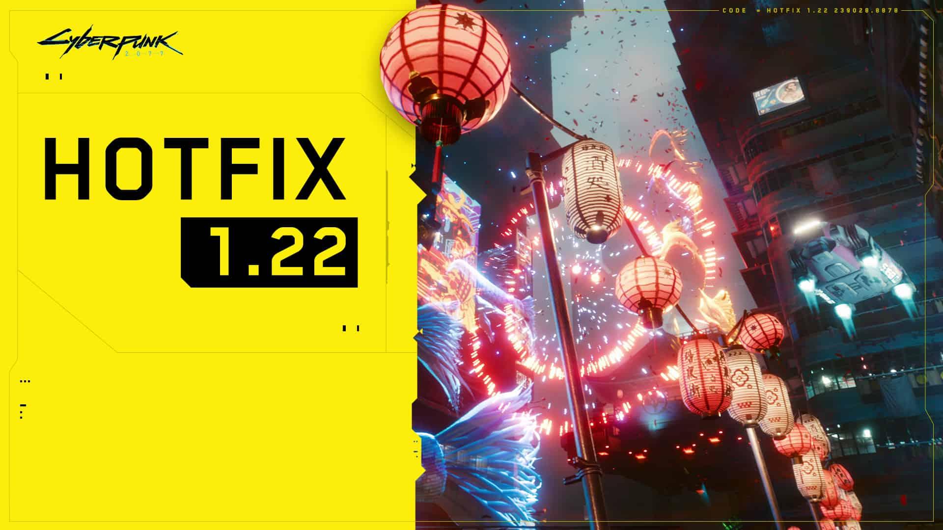 Cyberpunk 2077 Hotfix 1.22
