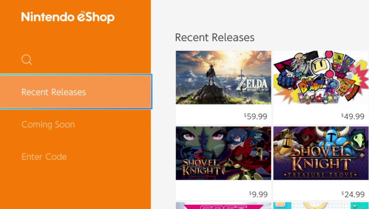 Nintendo eShop - Recent Releases