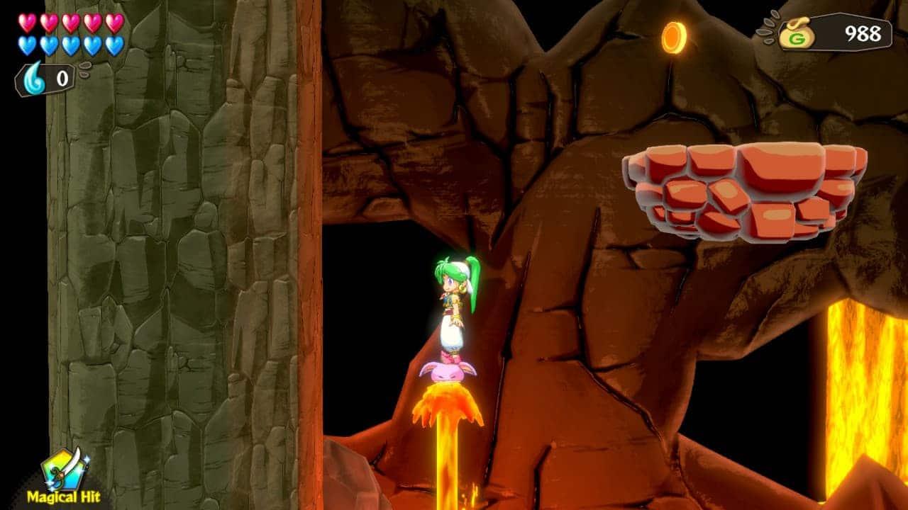 Wonder Boy: Asha in Monster World - Platforming