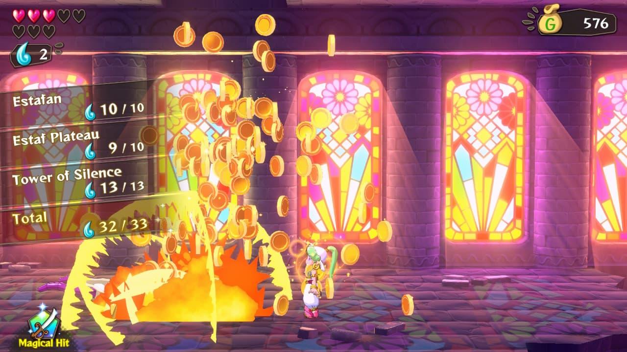 Wonder Boy: Asha in Monster World - Combat
