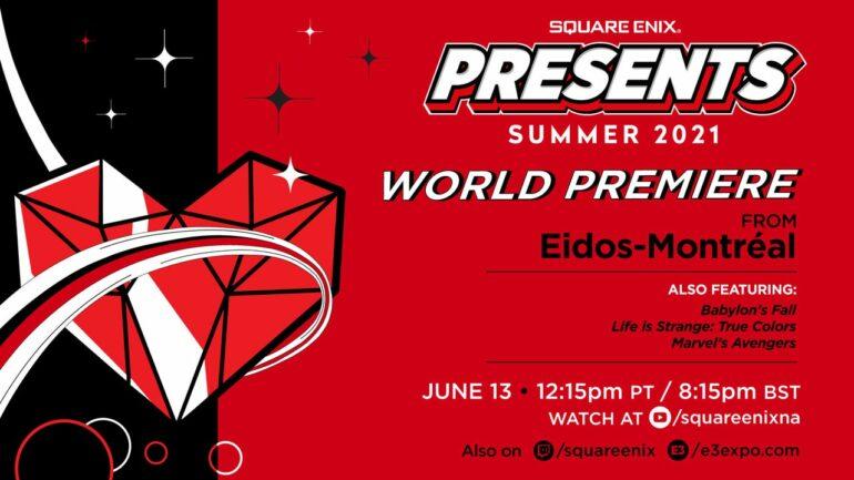 E3 Expo 2021 Square Enix Presents event