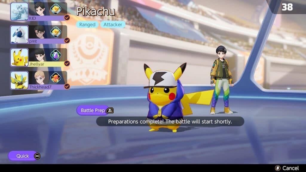 Pokémon Unite In-game Screenshot (Undocked)