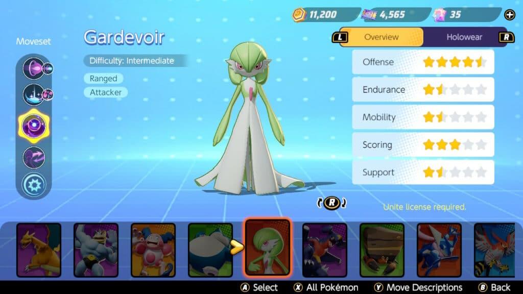 Pokémon Unite Gardevior Key Art