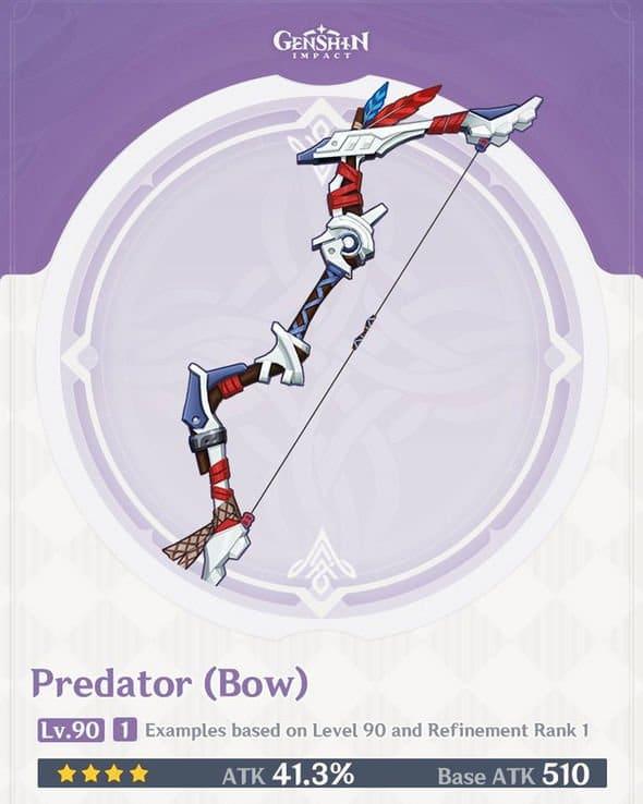 Genshin Impact Horizon Zero Dawn Aloy Predator Bow