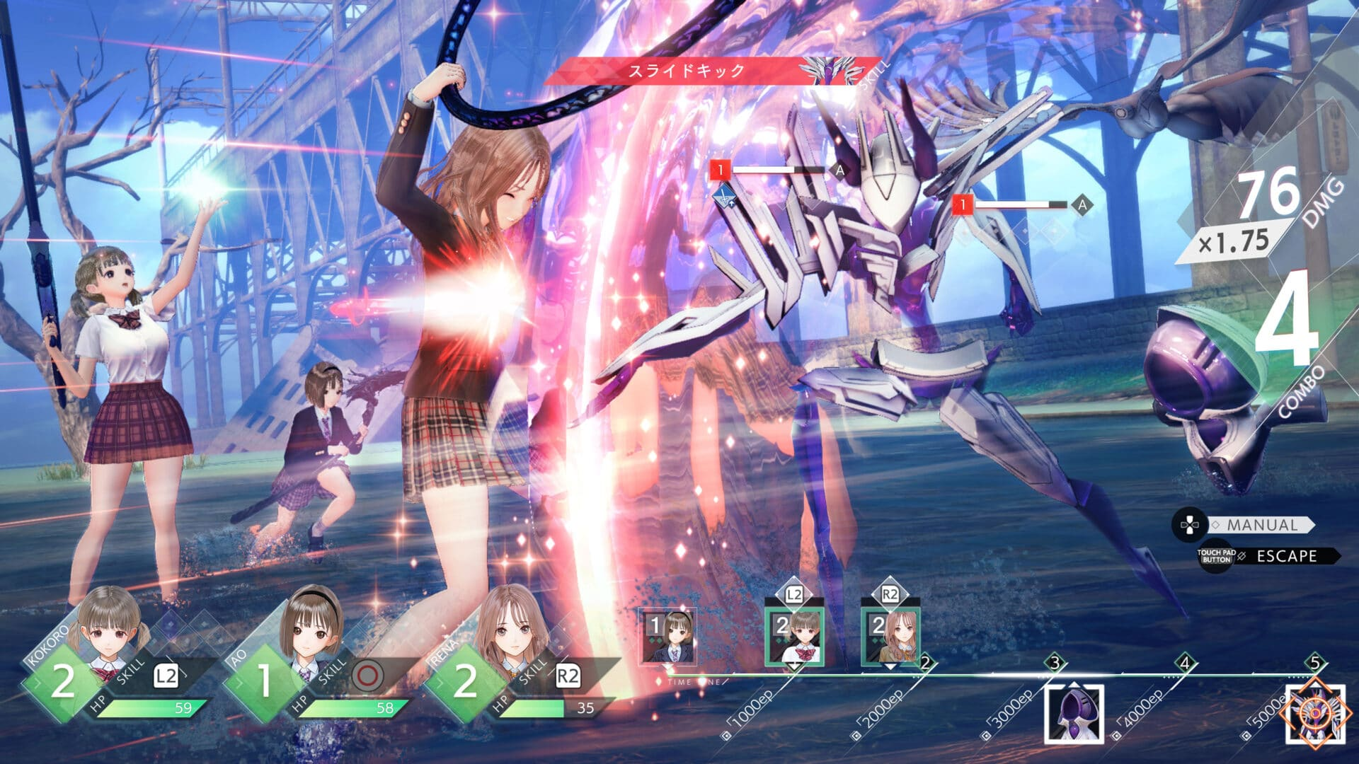 BLUE REFLECTION: Second Light - Gameplay