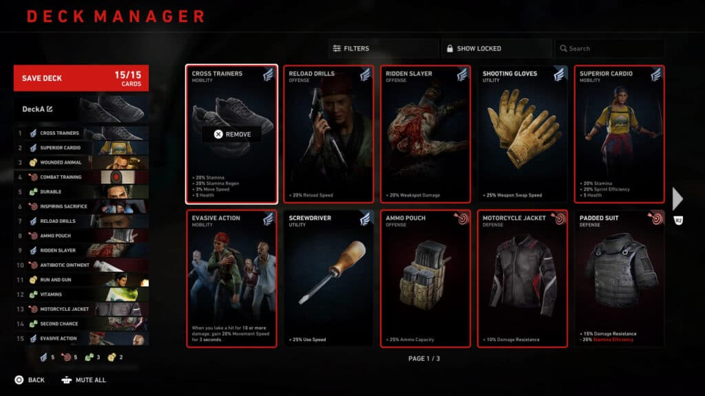 Back 4 Blood Deck Manager — In-game Screenshot