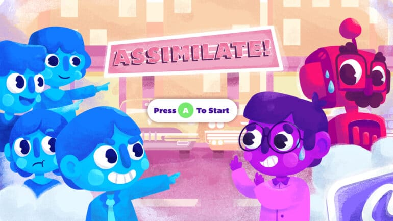 Assimilate! (A Party Game) Key Art