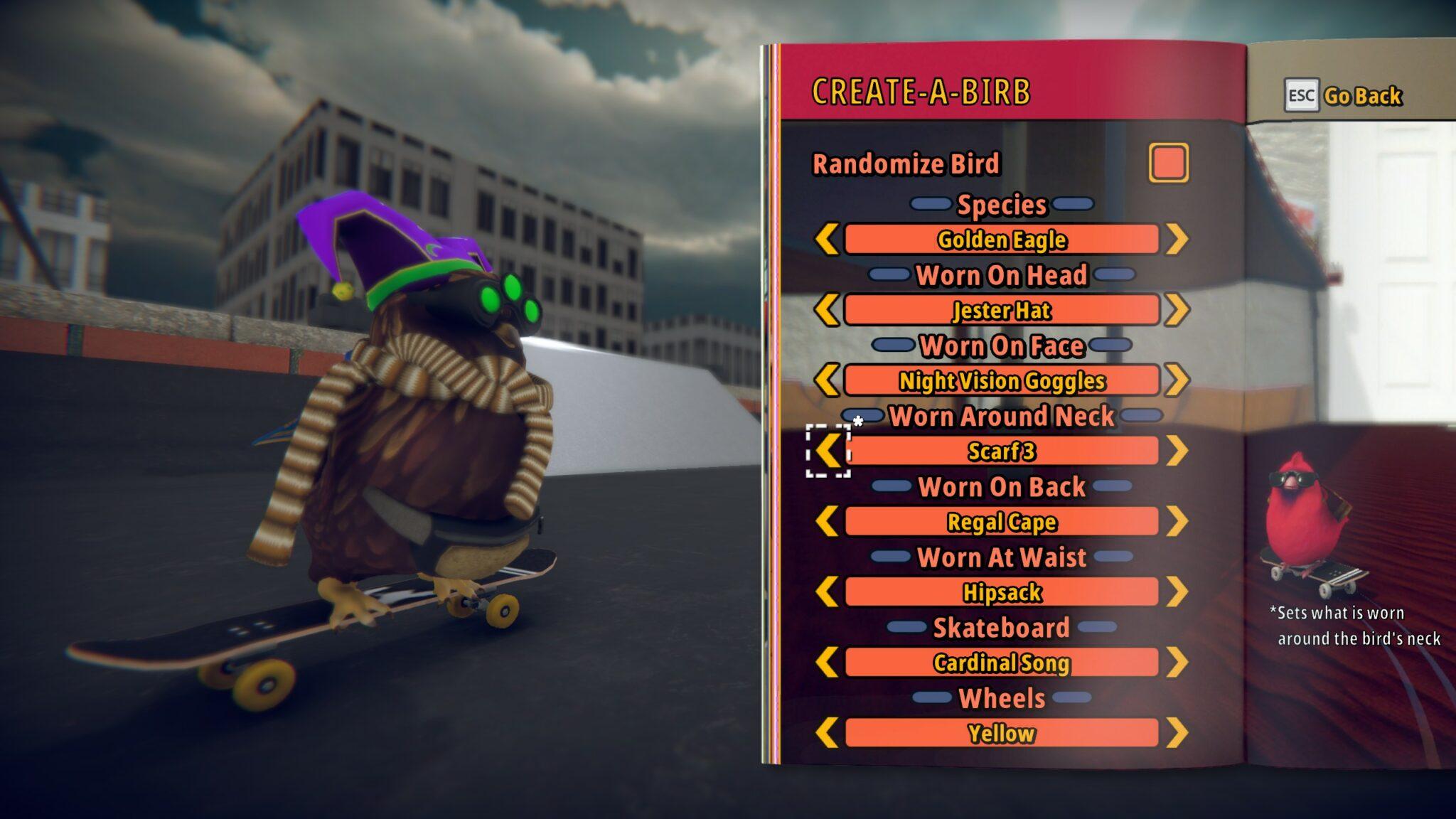 SkateBIRD - Customisation