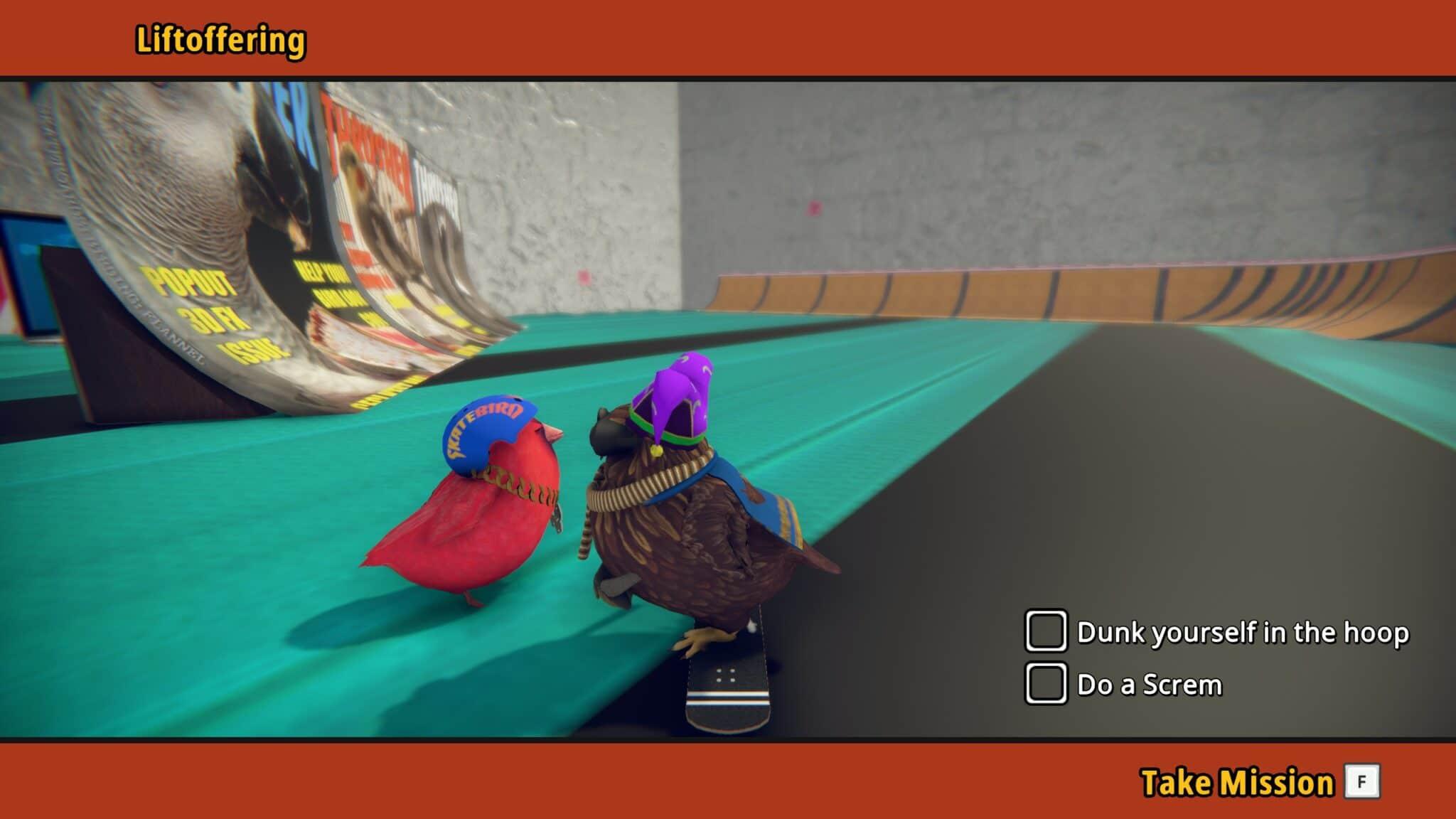 SkateBIRD - Gameplay