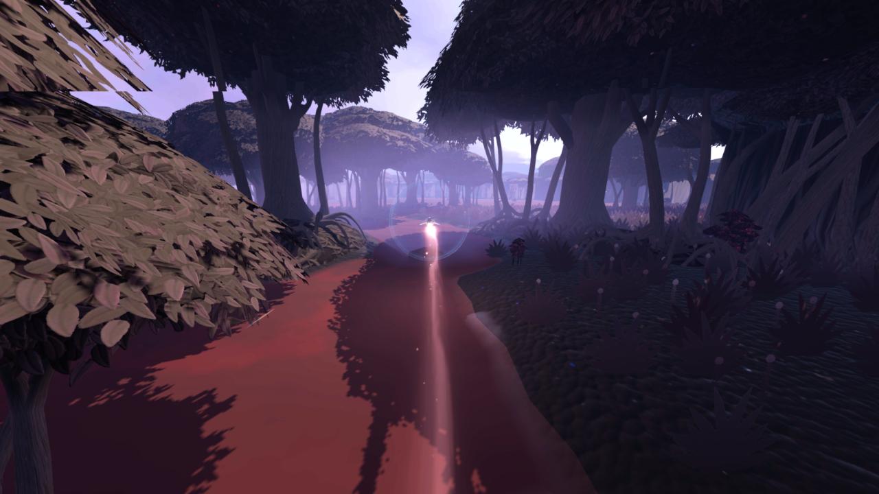 Jett: The Far Shore flying through the forest