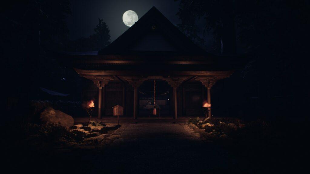 Ikai In-game Screenshot of a dark gloomy shrine