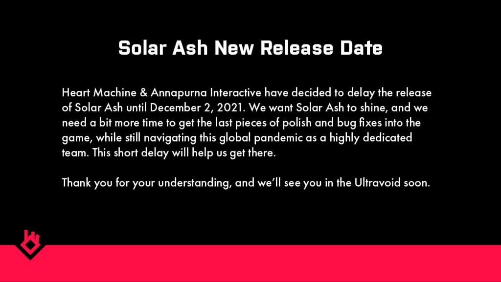 Solar Ash Delay Message